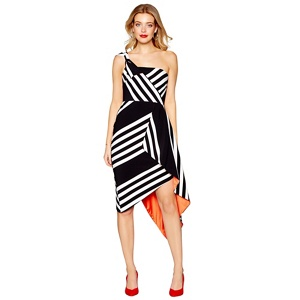 Siren by Giles Black striped 'Virginia' dress