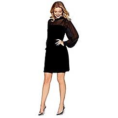 Siren by Giles - Black velvet 'Sandra' tunic dress