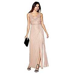 Debut - Mid rose 'Alisha' cowl neck sleeveless maxi evening dress