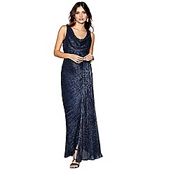 Debut - Navy 'Alisha' cowl neck sleeveless maxi evening dress