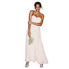 Debut - Light pink chiffon 'Sara' strapless bridesmaid dress