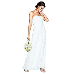 Debut - Light green chiffon 'Sara' strapless bridesmaid dress