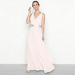 No. 1 Jenny Packham - Pink chiffon v-neck sleeveless dress