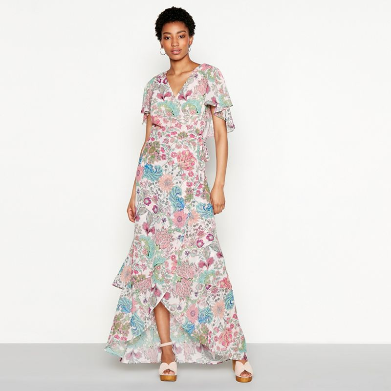 MW by Matthew Williamson - Pink Floral Print Chiffon Mimi