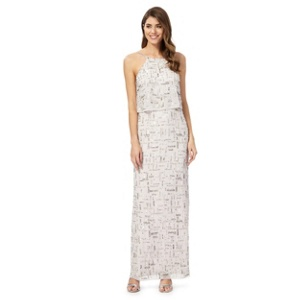 Debut Silver 'City' beaded maxi dress
