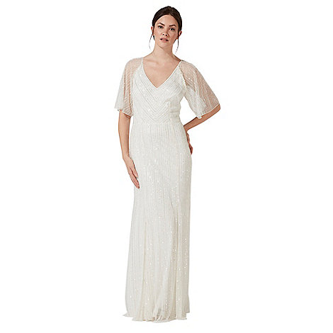 Debut Ivory Embellished Joy V Neck Wedding Dress