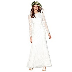Nine by Savannah Miller - Ivory 'Eligenza' long sleeve wedding dress