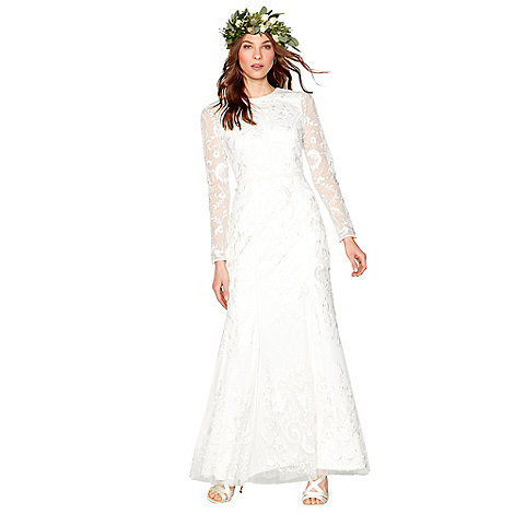 Nine By Savannah Miller Ivory Eligenza Long Sleeve Wedding Dress