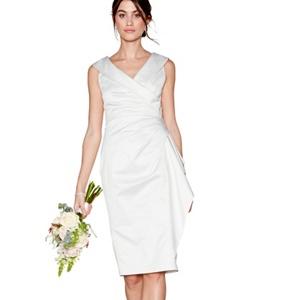 Debut Ivory 'samantha' Shawl Neck Bridal Dress