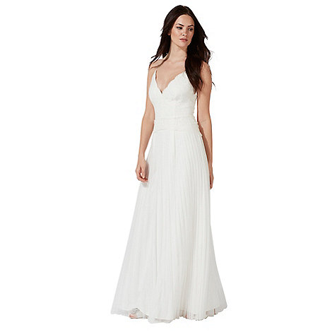 Wedding dresses debenhams debut ivory alicia v neck wedding dress junglespirit