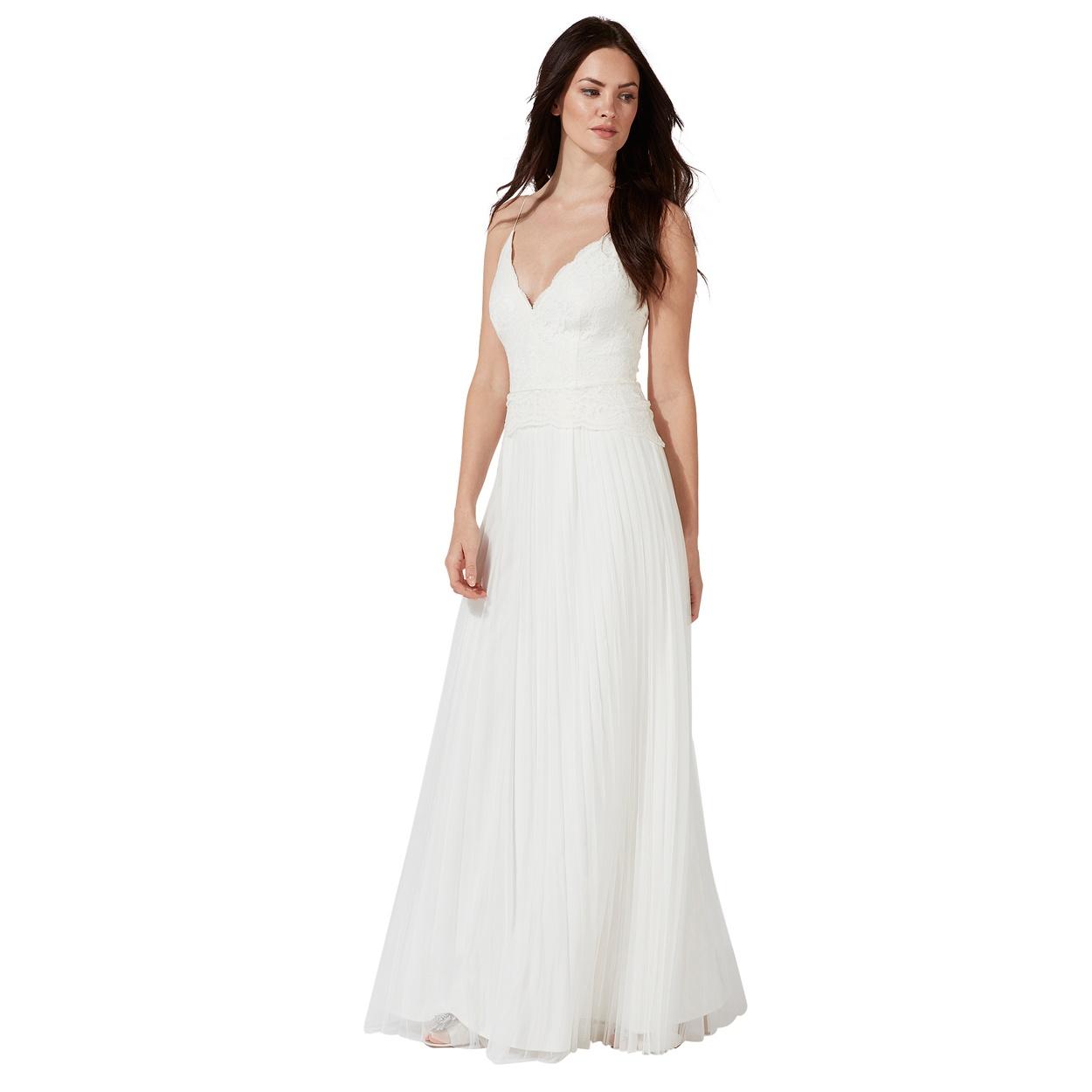 wedding dresses borrow wedding dress Debut Ivory Alicia v neck wedding dress