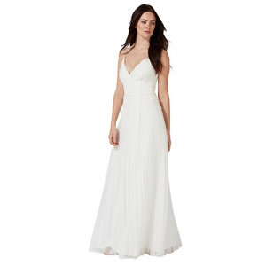 Plus Size Debut Ivory 'alicia' Lace Pleated Bridal Dress