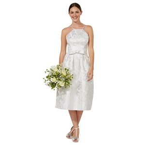 Debut Silver 'honor' Jacquard Bridal Dress