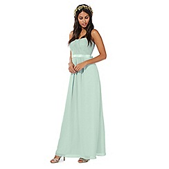 Debut - Green 'Sophia' bandeau evening dress