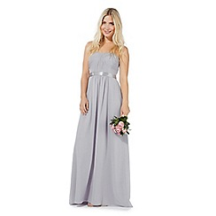 Debut - Grey 'Sophia' bandeau evening dress