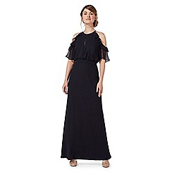 Debut - Navy 'Rosanna' cold shoulder evening dress