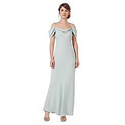 Debut - Pale green cold shoulder maxi dress
