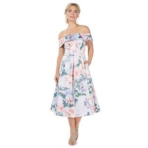 Plus Size Debut Lilac (Purple) 'peonise' Floral Print Prom Dress