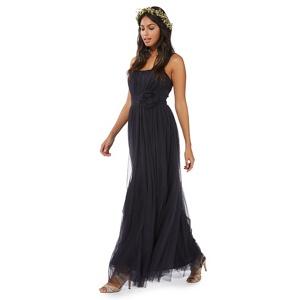 Debut Navy (Blue) 'anna' Mesh Evening Dress