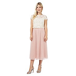 Debut - Pink pleated tulle skirt