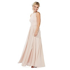 Debut - Light pink lace maxi dress