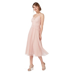 Debut Light Pink 'alicia' Lace Midi Dress