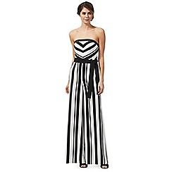 Debut - Black 'Sabrina' stripe jumpsuit