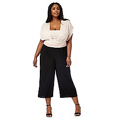 Debut - Pink and black multiway plus size jumpsuit