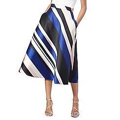 Debut - Bright blue striped midi skirt