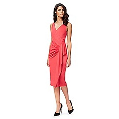 Debut - Bright pink 'Jaime' jersey wrap dress