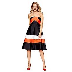 Debut - Multi-coloured 'Florida' bandeau knee length prom dress
