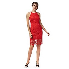 Debut - Red lace 'Briony' knee length shift dress