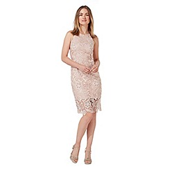 Debut - Pink lace knee length shift dress