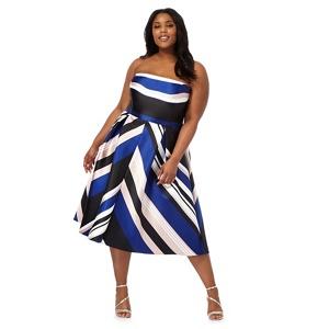 Debut Multi-Coloured Striped Plus Size Prom Dress