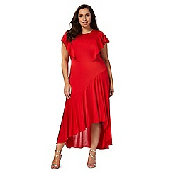 Debut - Red ruffle plus size dress