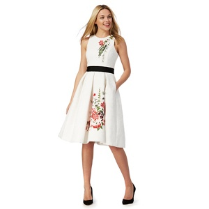 Plus Size Debut White 'sienna' Lace Embroidered Prom Dress
