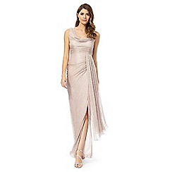 Debut - Pink cowl neck evening dress