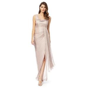 Debut Pink Plisse Maxi Dress