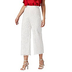 Debut - Ivory floral lace trousers
