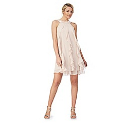 Debut - Light pink 'Kara' ruffle dress