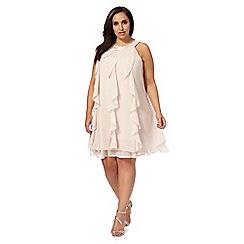 Debut - Light pink 'Kara' plus size ruffle dress