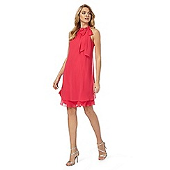Debut - Cerise 'Elsa' bow neck shift dress