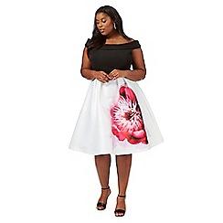 Debut - Multi-coloured 'Miami' plus size prom dress
