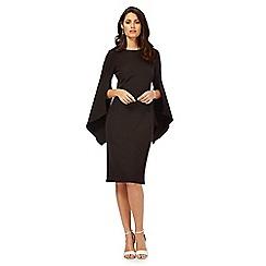 Debut - Black split sleeve dress