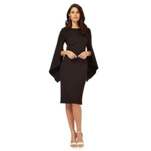 Debut Black split sleeve plus size dress