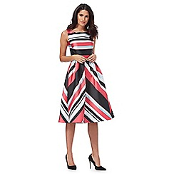Debut - Multi-coloured 'Miami' striped prom dress