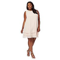 Debut - Pale pink 'Rochelle' plus size shift dress