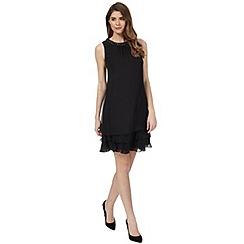 Debut - Black 'Rochelle' beaded plus size dress