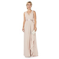 No. 1 Jenny Packham - Pink 'Lily' v-neck evening dress