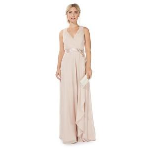 No. 1 Jenny Packham Pink 'Lily' v-neck evening dress